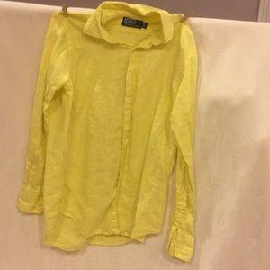 Linen bottom down shirt